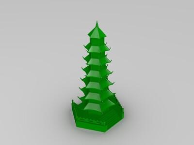 万佛塔-3d打印模型