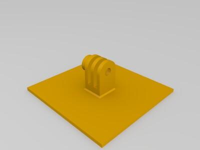 GoPro 山狗 运动相机底座-3d打印模型