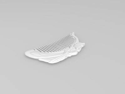 侍女梳子-3d打印模型