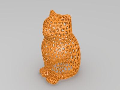 猫咪篓空存钱罐-3d打印模型