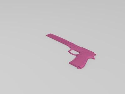 创意枪梳子-3d打印模型