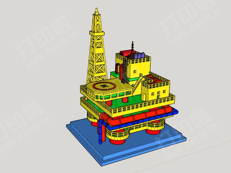海上石油平台-3d打印模型