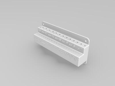 钻头支架-3d打印模型