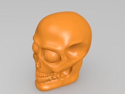 骷髅头灯-3d打印模型