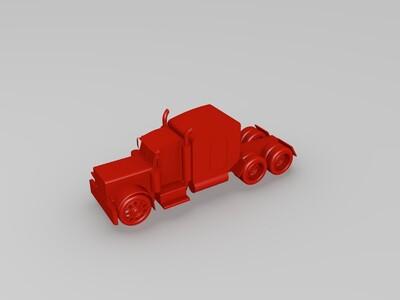 擎天柱卡车 西部之星卡车-3d打印模型