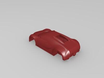 可以拼装的布加迪(高精度)-3d打印模型