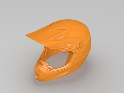 炫酷头盔-高精度实体模型-3d打印模型