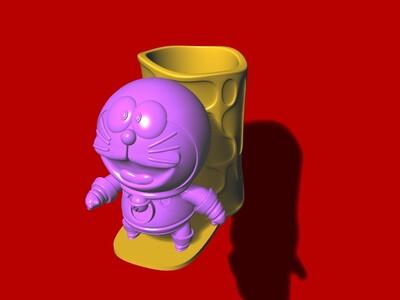 哆啦A梦 笔筒 B-3d打印模型