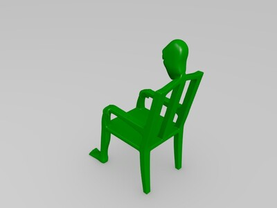 板凳人-3d打印模型