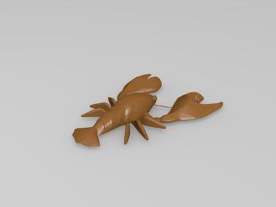 龙虾-3d打印模型