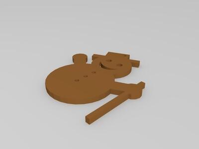 雪人-3d打印模型