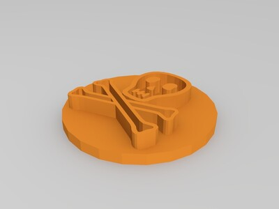 危险 骷髅-3d打印模型