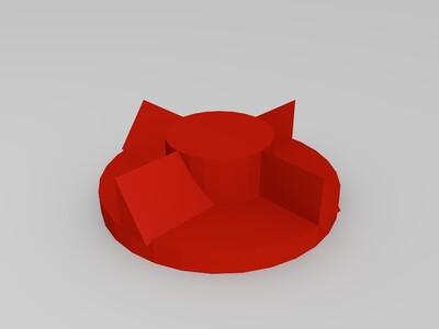 简易搅拌机-3d打印模型