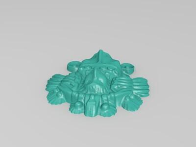 阿兹特克人头-3d打印模型
