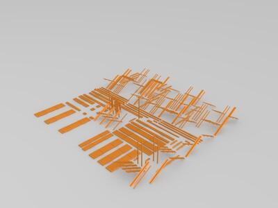 可以拼装的房子-3d打印模型