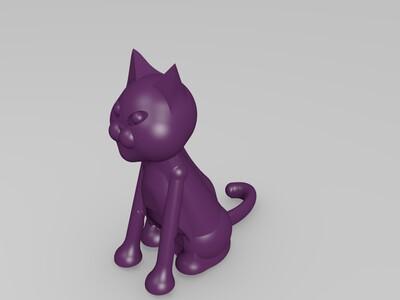 猫2-3d打印模型