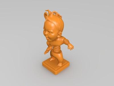 创意小孩摆件-3d打印模型