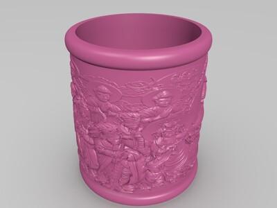 笔筒- Pen container-3d打印模型