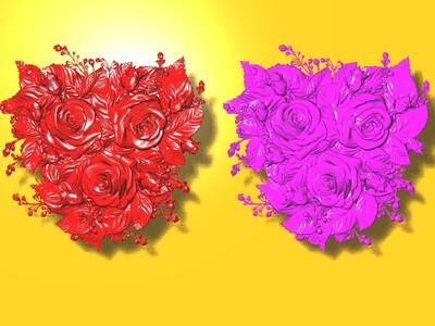 玫瑰花雕塑 1-3d打印模型