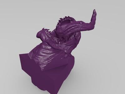 毒液VS蜘蛛侠 头像-3d打印模型