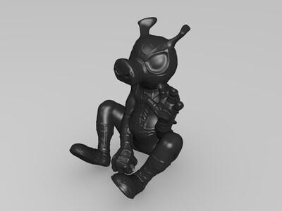 蜘猪侠  -3d打印模型