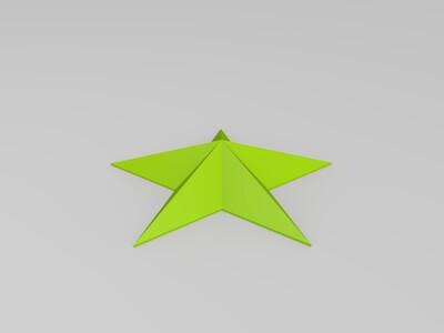 斜面五角星-3d打印模型