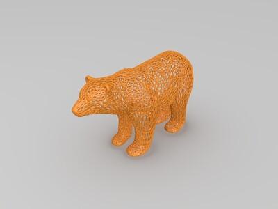 镂空北极熊-3d打印模型
