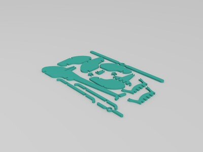 拼装飞机-3d打印模型