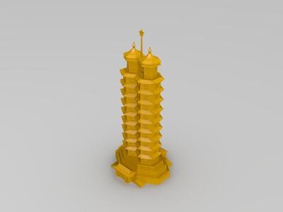 郑州二七纪念塔-3d打印模型