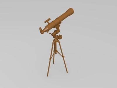 天文望远镜-3d打印模型
