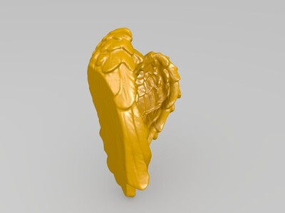侧躺卧姿小天使-3d打印模型