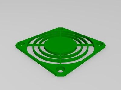 散热风扇罩子-3d打印模型