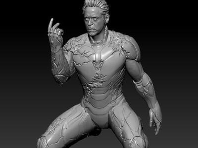 复仇者联盟4钢铁侠-3d打印模型