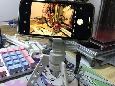 折叠三角手机支架-3d打印模型