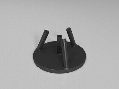 14CM月球灯充电支架-3d打印模型