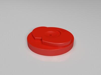 18CM月球灯充电支架-3d打印模型