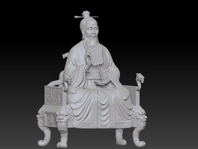 道德天尊- 老子-3d打印模型