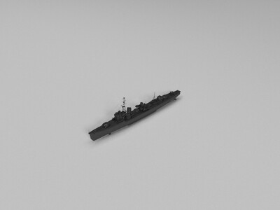 【驱逐】(HSF_Harekaze)高校舰队晴风-3d打印模型
