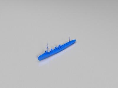 【驱逐】(Isokaze)矶风-3d打印模型