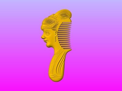 仕女美容梳子-3d打印模型
