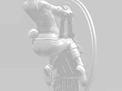 塞尔达公主羞耻模型-3d打印模型