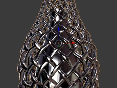 编织花瓶-3d打印模型