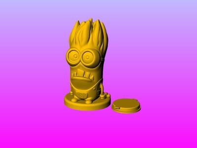 小黄人存钱罐 2-3d打印模型