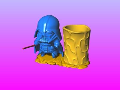 星际大战-黑武士笔筒-3d打印模型
