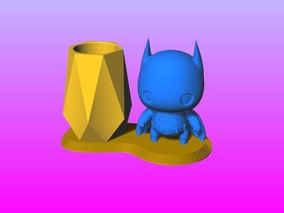 蝙蝠俠笔筒 1-3d打印模型