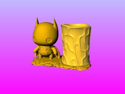 蝙蝠俠笔筒 2-3d打印模型