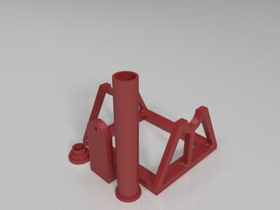 焊锡丝卷纸架-3d打印模型