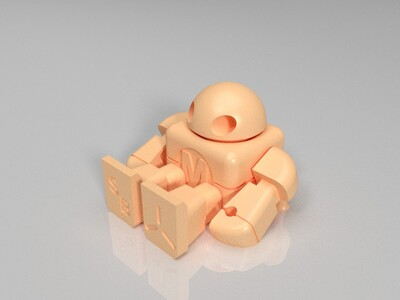 Maker Faire 一体成型可动机器人-3d打印模型