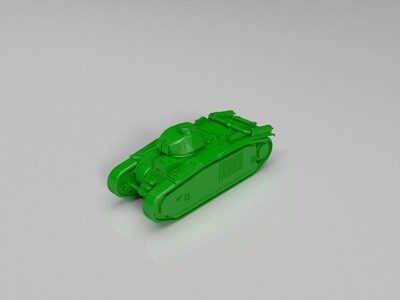 【Germany】Pz.Kpfw._B2_740_(f)-3d打印模型