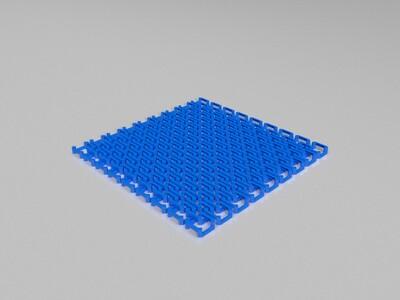 像布料一般可随意活动的锁链甲-3d打印模型